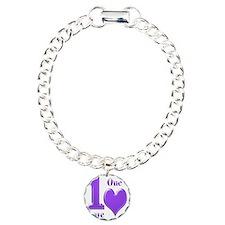 1 love 1 heart violet  1 Bracelet