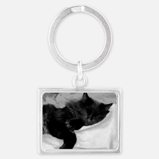 card lazy day Landscape Keychain