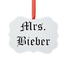 mrs bieber Ornament