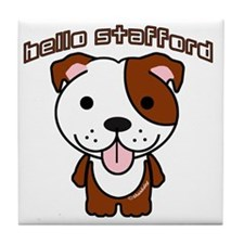 Hello Stafford3 Tile Coaster