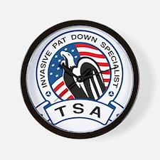 TSA Invasive Pat Down Specialist Wall Clock