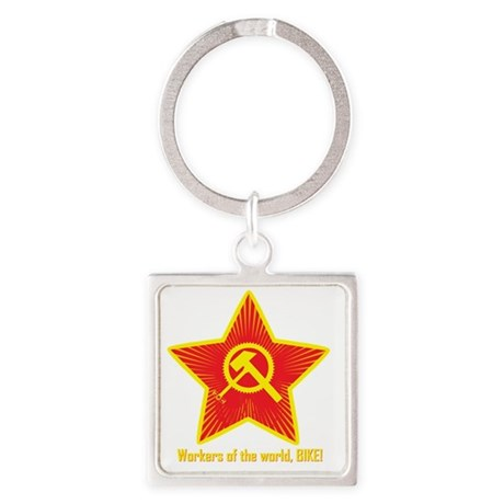 Hammer and Cycle (star only) Square Keychain