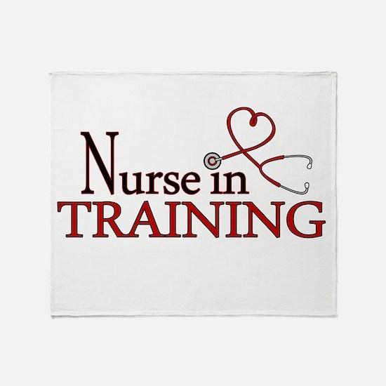 Nurse in Training Throw Blanket
