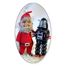 Santa and a Robot Decal