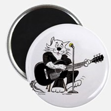 Guitar Cat in Black Best Magnet