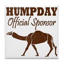 Vintage Hump Day Official Sponsor Tile Coaster