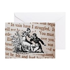 Mr Darcys Proposal, Jane Austen Greeting Card
