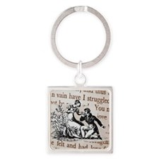Mr Darcys Proposal, Jane Austen Square Keychain