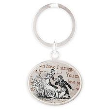 Mr Darcys Proposal, Jane Austen Oval Keychain