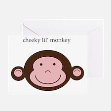 CheekyMonkey Greeting Card