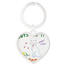 amsterdamcatstm Heart Keychain