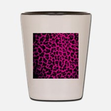 Hot Pink Leopard Shot Glass