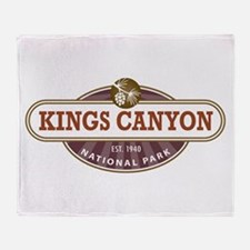 Kings Canyon National Park Throw Blanket