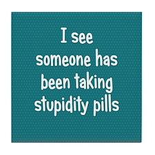 stupiditypills_rnd1 Tile Coaster