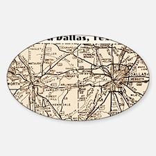 ftworth_dallas_1945_11x17 Sticker (Oval)
