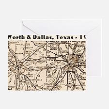 ftworth_dallas_1945_11x17 Greeting Card