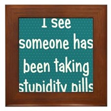 stupiditypills_ipad1 Framed Tile
