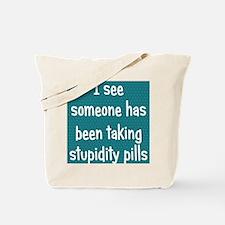 stupiditypills_ipad1 Tote Bag