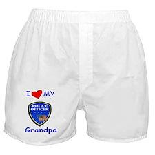 i love my police grandpa redone Boxer Shorts