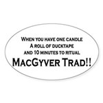 MacGyver Trad Oval Sticker