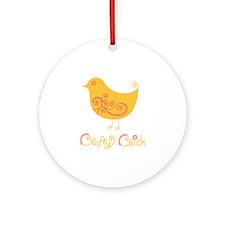 craftychickorgpink Round Ornament