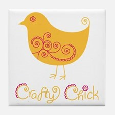 craftychickorgpink Tile Coaster