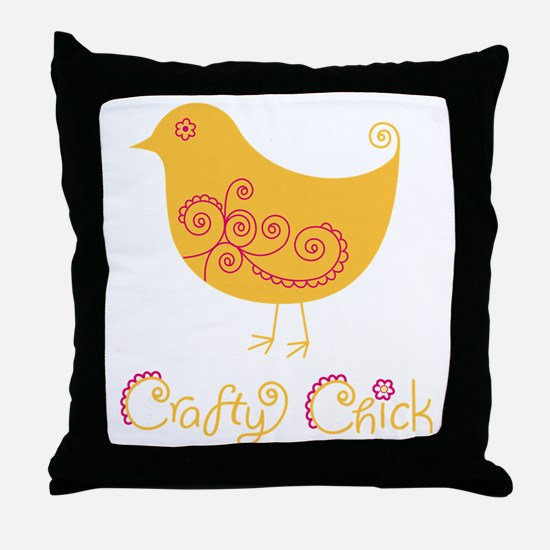 craftychickorgpink Throw Pillow