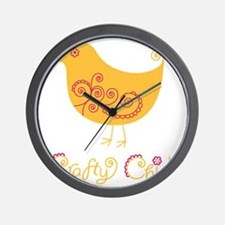 craftychickorgpink Wall Clock