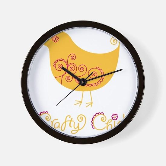 craftychickorgpink Wall Clock