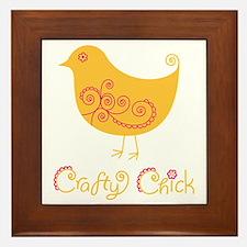 craftychickorgpink Framed Tile