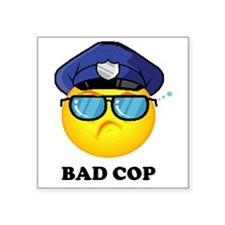 "badcop Square Sticker 3"" x 3"""