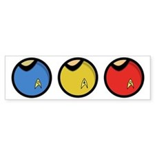trekshirtsround01 Bumper Sticker