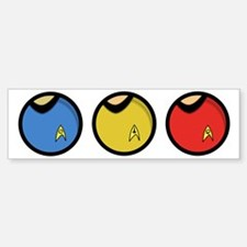 trekshirtsround01 Sticker (Bumper)