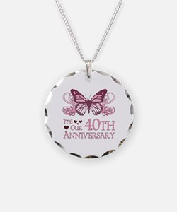 40th Wedding Aniversary (Butterfly) Necklace