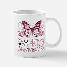 40th Wedding Aniversary (Butterfly) Mug