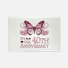 40th Wedding Aniversary (Butterfly) Rectangle Magn