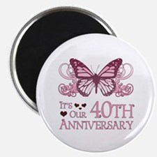 40th Wedding Aniversary (Butterfly) Magnet