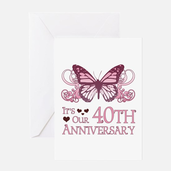 40th Wedding Aniversary (Butterfly) Greeting Card