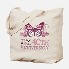 40th Wedding Aniversary (Butterfly) Tote Bag