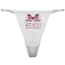 40th Wedding Aniversary (Butterfly) Classic Thong