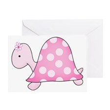 Girly Pink Turtle Greeting Card