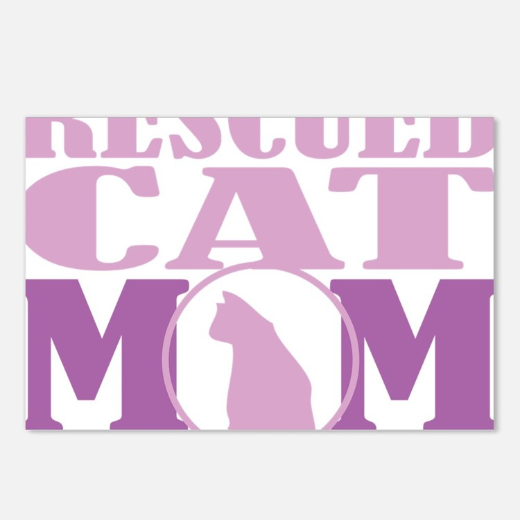 Rescued-Cat-Mom Postcards (Package of 8)