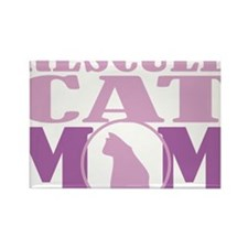 Rescued-Cat-Mom Rectangle Magnet