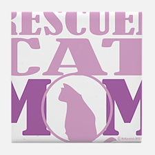 Rescued-Cat-Mom Tile Coaster