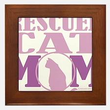 Rescued-Cat-Mom Framed Tile