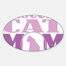 Rescued-Cat-Mom Sticker (Oval)