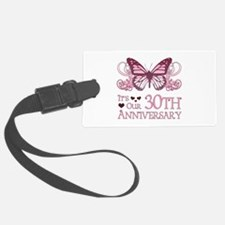 30th Wedding Aniversary (Butterfly) Luggage Tag