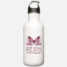 30th Wedding Aniversary (Butterfly) Water Bottle