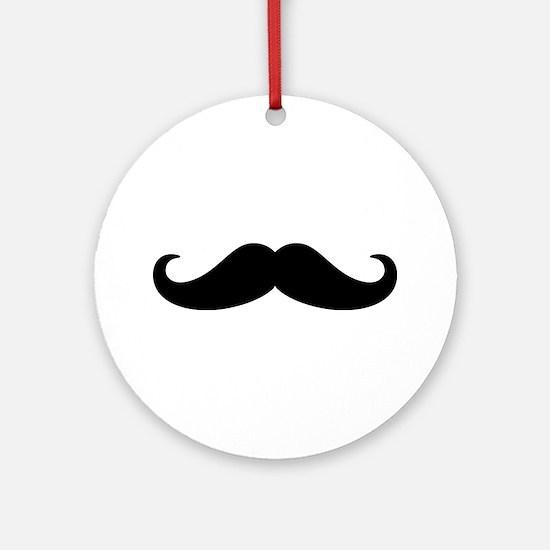 Mustache Beard Ornament (Round)