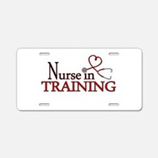 Nurse in Training Aluminum License Plate